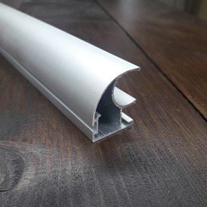 Боковая ручка двери шкафа купе | 119 серебро