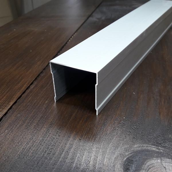 Верхняя монорельса для шкафа купе, одинарная серебро