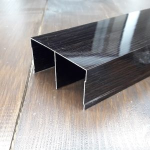 Верхняя рельса для шкафа купе, двойная венге