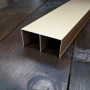 Верхняя рельса для шкафа купе, двойная | 104 розовое золото