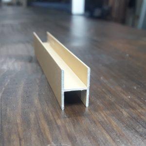 Разделительный Н-профиль для фасада шкафа купе | 03 розовое золото