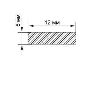 Алюминиевая пластина 12х8 мм, анод серебро