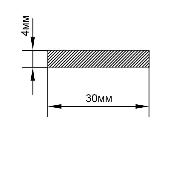 алюминиевая шина 40х4