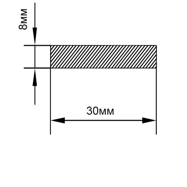 алюминиевая пластина 30х8