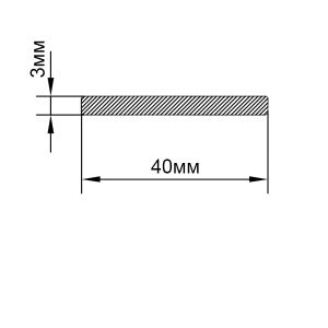 Алюминиевая шина 40х3 мм, анод серебро