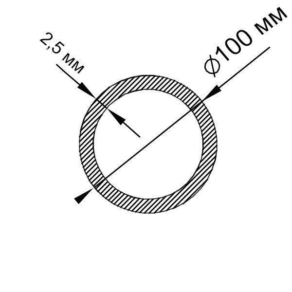 алюминиевая труба круглая 100х2,5