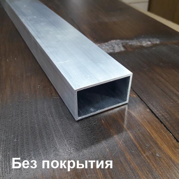 алюминиевая труба прямоугольная без покрытия