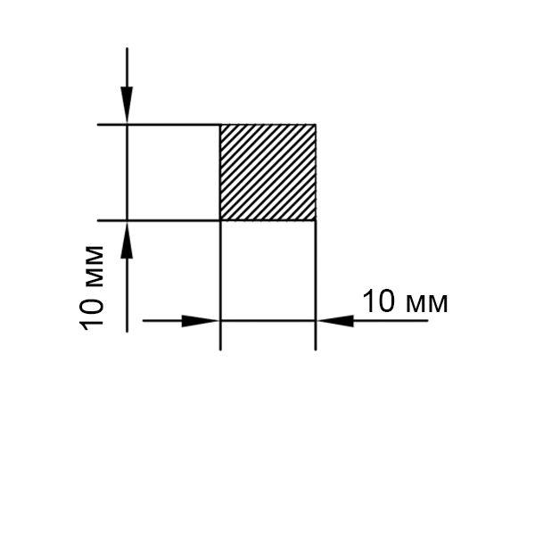 алюминиевый пруток квадратный 10х10