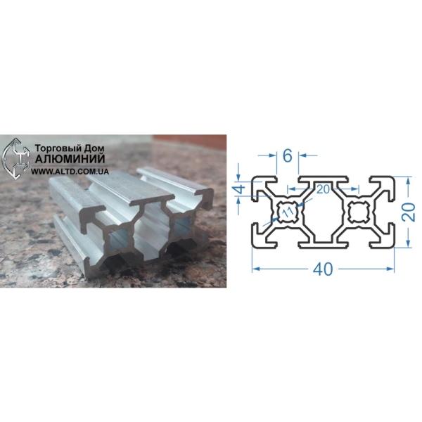 станочный алюминиевый профиль 20х40 Т-слот М6