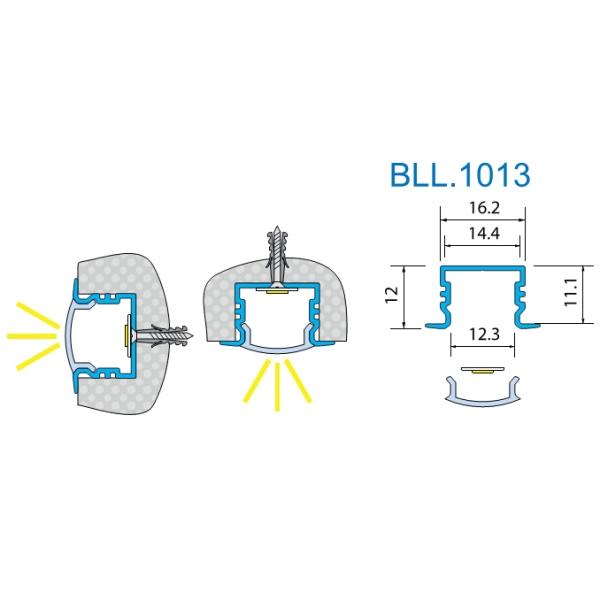 врезной led профиль Bll1013