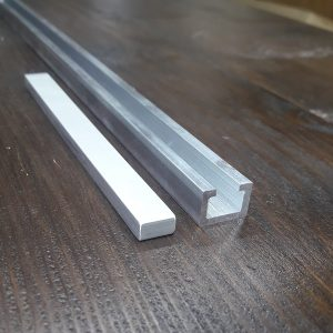 Заготовка для ползунка к T-track профилю 14х10 (пластина алюминиевая 120х11х5)