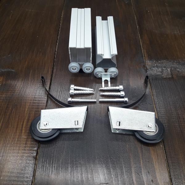 комплект симметричных роликов для дверей шкафа купе