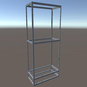 Стеллаж витрина | Конструктор из торговых профилей М-17