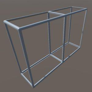 Торговый прилавок-стеллаж | Конструктор из торговых профилей М-2