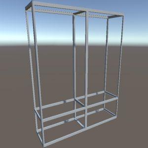 Торговые витрины стеллажи | Конструктор из торговых профилей М-26