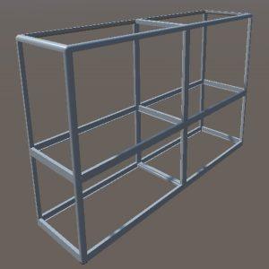 Прилавки алюминиевые торговые | Конструктор из торговых профилей М-6