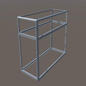 Прилавок витрина | Конструктор из торговых профилей М-7