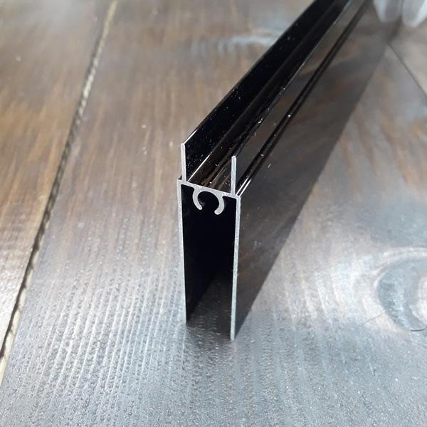 нижний соединительный профиль раздвижной системы шкафа купе венге 1