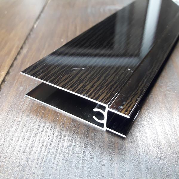 нижний соединительный профиль раздвижной системы шкафа купе венге 2