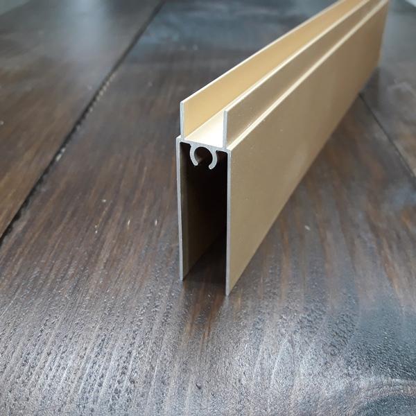нижний соединительный профиль раздвижной системы шкафа купе розовое золото