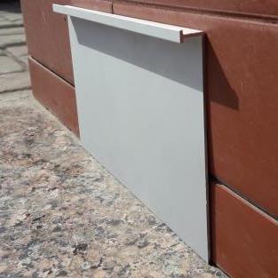 Плинтус алюминиевый под гипсокартон