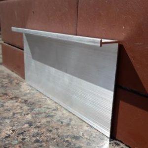 Плинтус алюминиевый под гипсокартон 70мм. BLW-3114 L-3 метра.