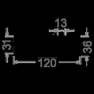 профиль радиаторный 120х36 чертеж