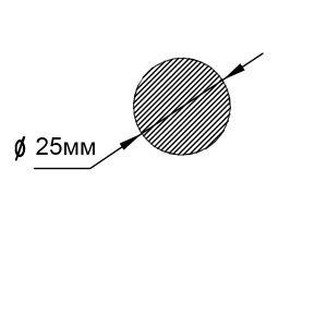 Пруток алюминиевый | Булыжник — диаметр 25мм