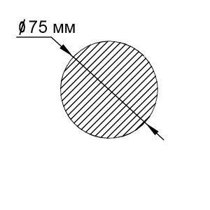 Пруток алюминиевый | Кругляк — диаметр 75мм