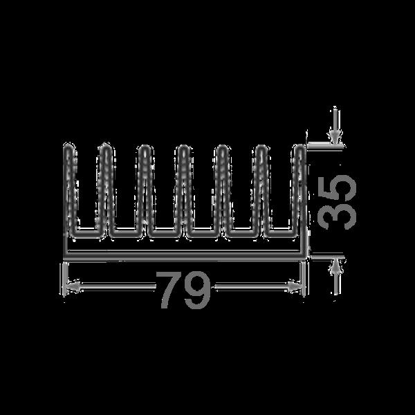 радиаторный профиль алюминий 79х35