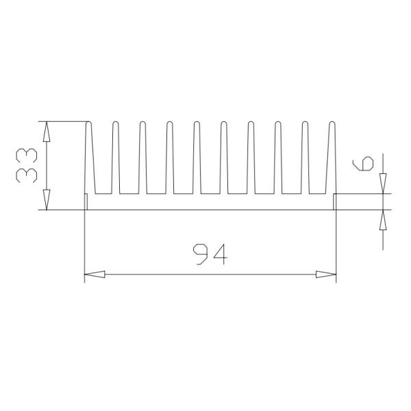 радиаторный профиль 94х33