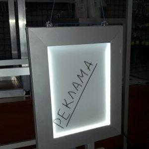 Алюминиевая рамка для рекламной панели из торгового профиля модели 2721