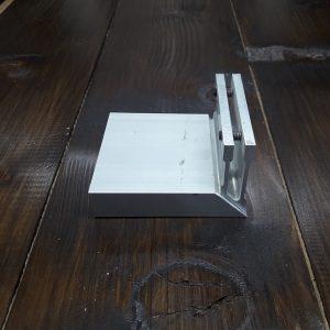 Соединитель алюминиевой трубы 20х80мм, угловой (фиксация по стороне 80)