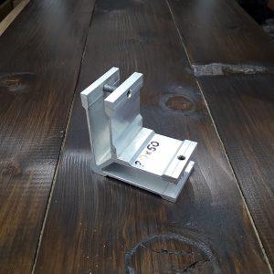 Соединитель алюминиевой трубы 30х50мм, угловой (фиксация по стороне 50)