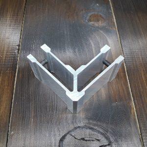 Соединитель алюминиевой трубы 30х60мм, угловой (фиксация по стороне 60)