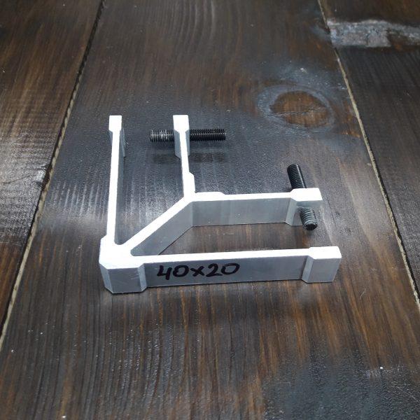 соединитель угловой для трубы 40х20