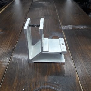 Соединитель алюминиевой трубы 40х80мм, угловой (фиксация по стороне 80)