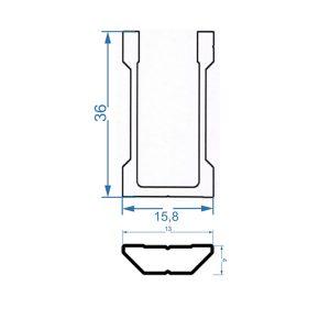 чертеж соединительное крепление алюминиевой трубы 20