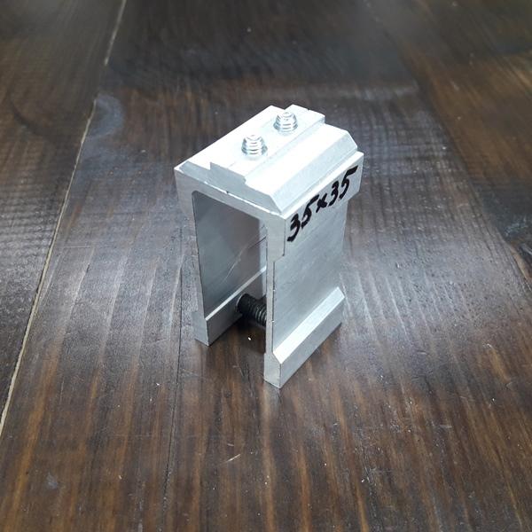 соединительное крепление алюминиевой трубы 35х35х2
