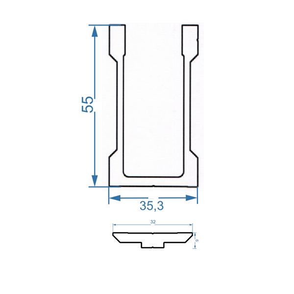 чертеж соединительное крепление алюминиевой трубы 40