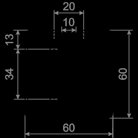 станочный алюминиевый профиль 60x60 Т-слот М10