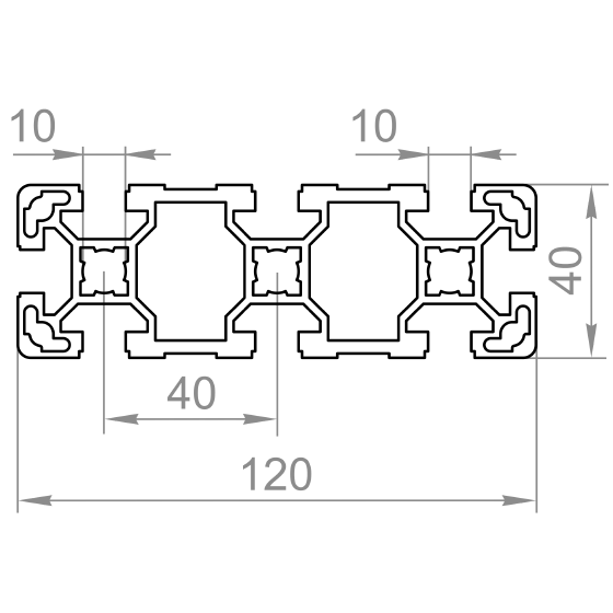станочный профиль 40х120