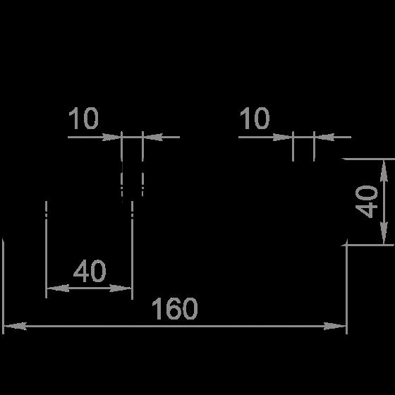 станочный профиль 40х160