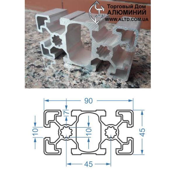 станочный алюминиевый профиль 45x90 Т-слот М10