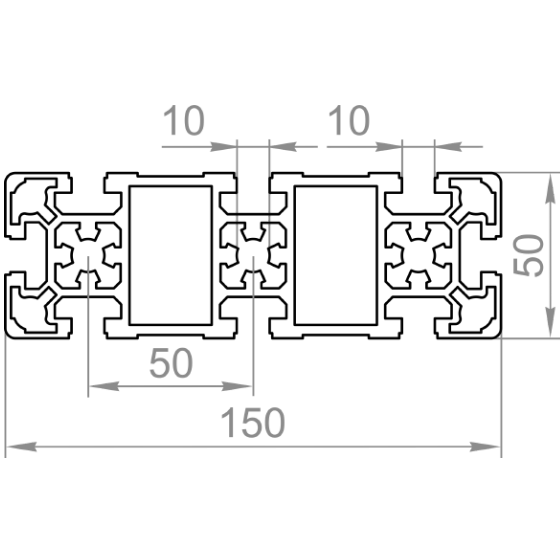 станочный профиль 50х150