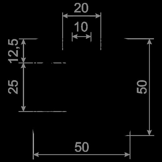 станочный профиль 50х50 М10
