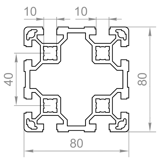 станочный профиль 80х80