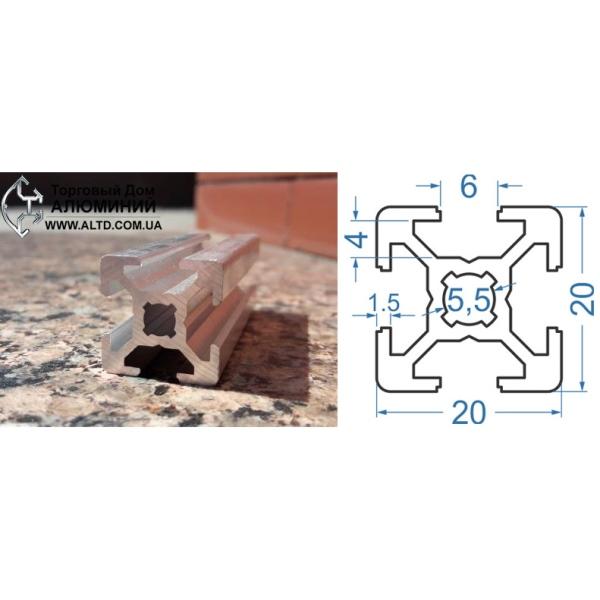 станочный алюминиевый профиль 20х20 Т-слот М6