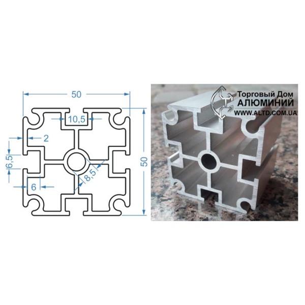 станочный алюминиевый профиль 50x50 Т-слот М6