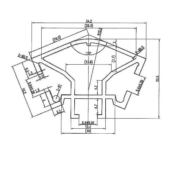 торговый профиль алюминиевый 3084